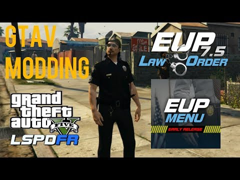 LSPDFR How to Install EUP Menu & EUP Law and Order Tutorial