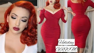 OKAY SO I LOVE RED! | HOLIDAY GRWM