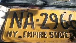 my 1926 indania & new york 1963 license plates