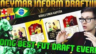 FIFA 17 OMG INFORM NEYMAR FUT DRAFT 🔥😱 DEUTSCH  ULTIMATE TEAM  BEST DRAFT EVER
