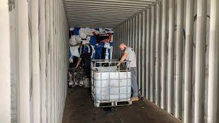 Как на самом деле везут запчасти из США. «Погрузка» 45 тонного контейнера в Алматы.