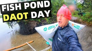 Kumander Daot – WORKING ON MY FISH POND – Day In My Daot Life (Davao, Mindanao)