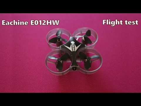 Eachine E012HW Mini WIFI FPV Quadcopter flight test