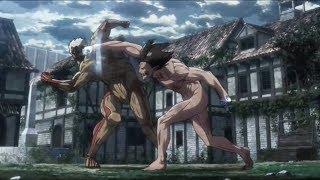 [HD] Eren Transform! Eren Vs Armored Titan (Reiner) - Attack On Titan 3 / 進撃 の 巨人