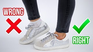 8 Ways You're Wearing Shoes WRONG! *how to fix*
