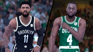 NBA 2K19 - Brooklyn Nets (KYRIE!) vs. Boston Celtics (KEMBA!) - Full Gameplay (Updated Rosters)