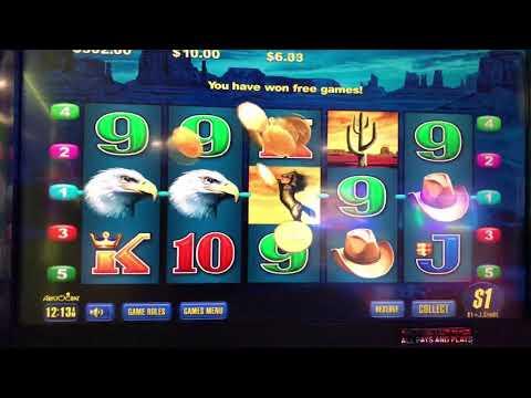 $300 Feature Wild Stallion 3 Eagles Pokies Win