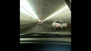 Super loud train horn in the Eisenhower tunnel