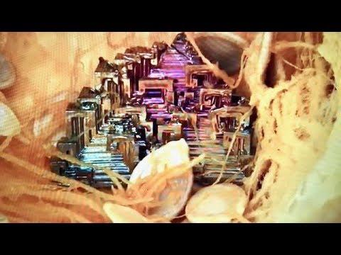 REAL BISMUTH CRYSTAL  FOUND INSIDE OF PUMPKIN.. OMG