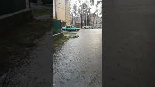 В Ирпене прошёл дождь затопило дороги. Гроза