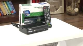 auvisio Digitaler pearl.tv HD-Sat-Receiver DSR-395U.SE, Full-HD-Player