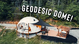 LUXURY GLAMPING DOME! | Full Airbnb Geodesic Dome Tour!