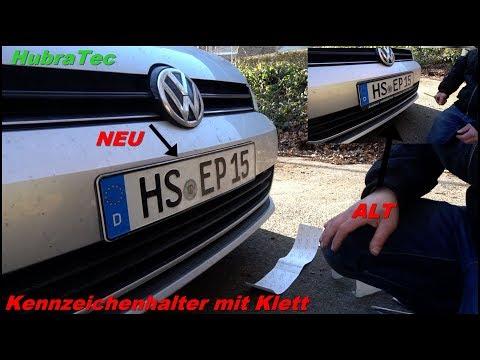 Rahmenloser Kennzeichenhalter / Klett-Car