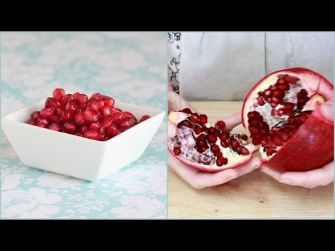 Cleanly De-Seed A Pomegranate Using A Salad Spinner