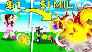 Minecraft: 1 DOLLAR VS 1,000,000 DOLLAR RAINBOW EXPLOSIVES!!! Crafting Mini-Game