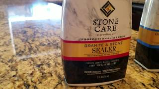 Granite sealer product review Home depot available SCI Stone care