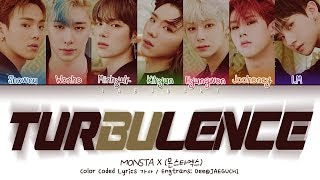 MONSTA X (몬스타엑스) - TURBULENCE (난기류) (Color Coded Lyrics Eng/Rom/Han/가사)