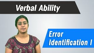 Error Identification 1- Verbal Ability - Best GRE, GMAT, CAT ,IBPS, Competitive Exams Tips