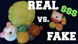FAKE VS. REAL SQUISHIES! fake squishies are better?