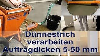 Ardex K 80 Dünnestrich Bodenausgleichsmasse mit Mischpumpe UMP 1