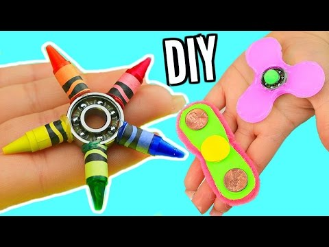 DIY FIDGET SPINNERS! 3 Ways To Make A Fidget Spinner Toy!