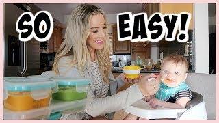 HOW I MAKE MY OWN BABY FOOD! | HOMEMADE BABY PUREES | OLIVIA ZAPO