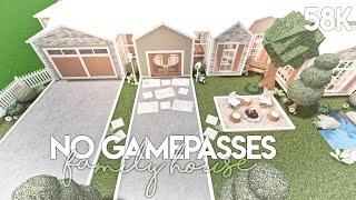 No Gamepasses Family House | Bloxburg Build