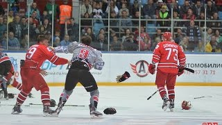 Авто - Чикаго Стил. Массовая драка. Avto (Russia) vs Chicago Steel (USA). Fight,