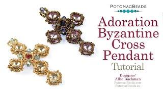 Adoration Byzantine Cross Pendant- DIY Jewelry Making Tutorial By PotomacBeads
