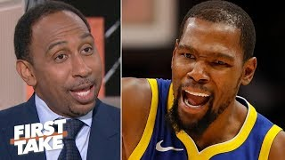I don't blame Kevin Durant for clapping back at critics on Twitter – Stephen A. | First Take