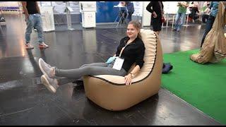 Must see: Camping Trono: in Sekunden aufblasbare Sessel für Camping und Strand. Caravan Salon 2020