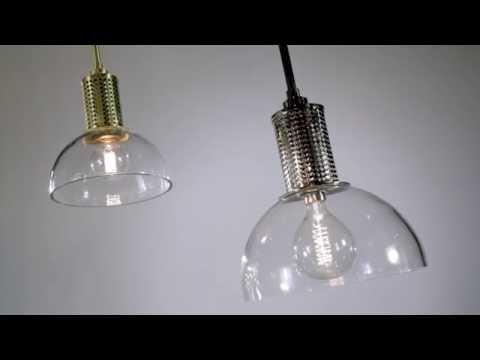 Video for Halcyon Aged Brass 10-Inch One-Light Pendant