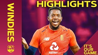 Jordan Takes Best EVER Figures For England   Windies vs England 2nd IT20 ODI 2019 - Highlights