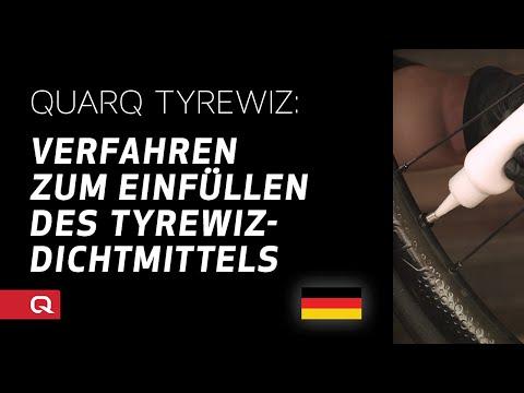 QUARQ: Verfahren zum Einfüllen des TyreWiz-Dichtmittels