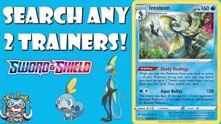 Indeedee  - (Pokémon) - Inteleon Has a Great Ability That Searches Your Trainer Cards! ( Pokemon Sword & Shield TCG)