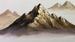 Paint Mountains With Acrylic Paints - Lesson 1