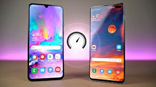 Samsung Galaxy A70 vs Galaxy S10 Plus - Speed Test!