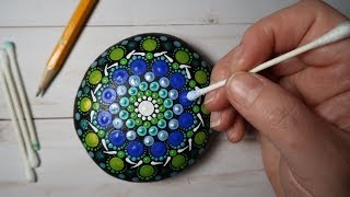 EASY Dot Art Mandala Stone Painting Using ONLY a Qtip & Pencil FULL TUTORIAL How To | Lydia May