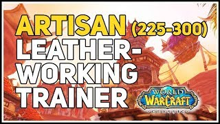 Horde Artisan Leatherworking Trainer WoW Classic (225-300)