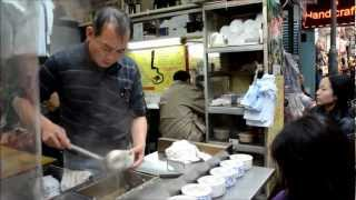 preview picture of video 'Hong Kong Street Food. Soup Stall in the Wan Chai Market'