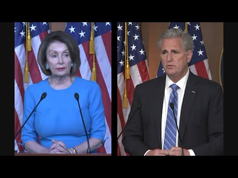 Speaker of the House Nancy Pelosi and House Minority Leader Kevin McCarthy weighed in Thursday on the growing tensions between the U.S. and Iran. (May 16)