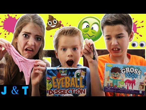 Making GROSS POOP and EYEBALL DISSECTION Kits for Kids - Gross Science / Jake and Ty