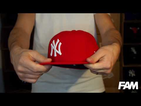 59FIFTY NEW YORK YANKEES RED/WHITE FITTED CAP Video #1