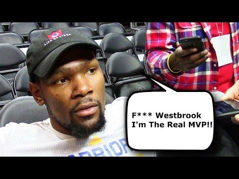 Kevin Durant Reacts To Russell Westbrook Winning 2017 MVP (2017 NBA Awards MVP Speech)
