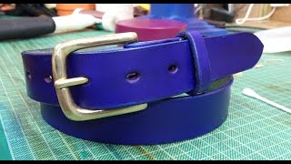 How To: Making And Colouring A Leather Belt