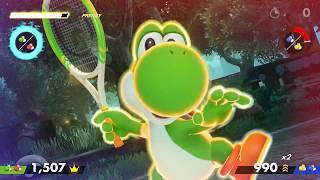 Mario Tennis Aces - Yoshi Ring Shot Challenge