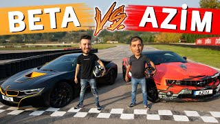 BETA (BMW i8) VS AZİM (Camaro) DRAG YARIŞI - Enes Batur Vs MC Yaralı
