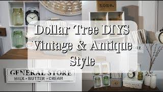 DOLLAR TREE DIYS | VINTAGE HOME DECOR | ANTIQUE DECOR