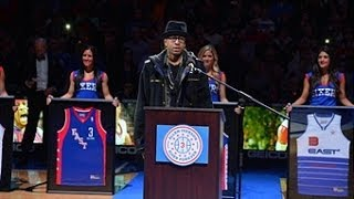 Allen Iverson's Number is Retired by the Philadelphia 76ers!