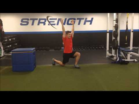 REVERSE LUNGE WITH OVERHEAD REACH